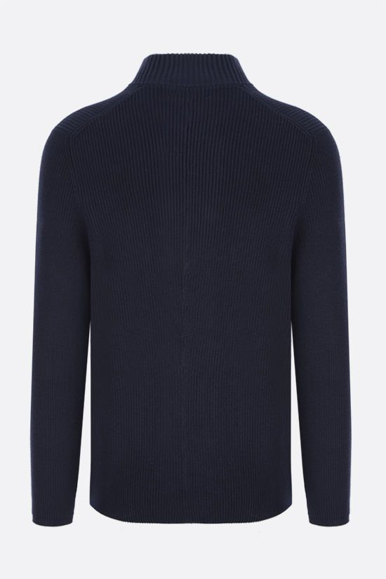 BRUNELLO CUCINELLI: double-breasted cotton knit cardigan Color Blue_2