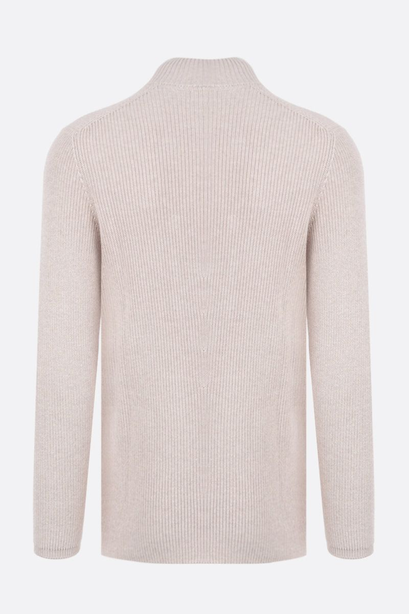 BRUNELLO CUCINELLI: double-breasted cotton knit cardigan Color Neutral_2