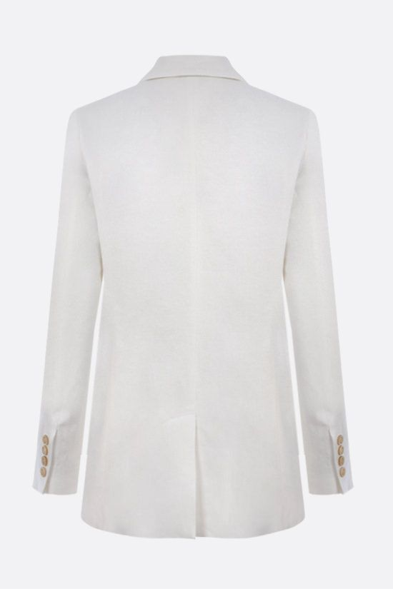 BRUNELLO CUCINELLI: double-breasted linen jacket Color White_2