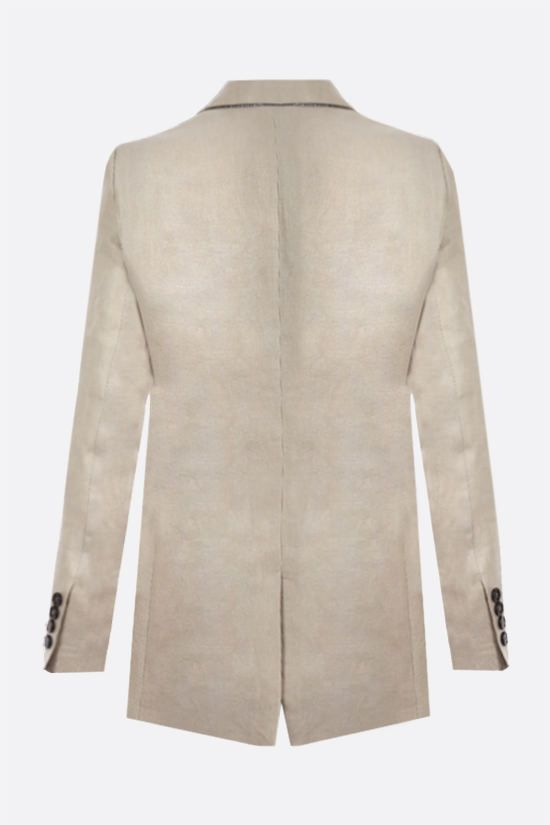 BRUNELLO CUCINELLI: double-breasted linen jacket Color Neutral_2
