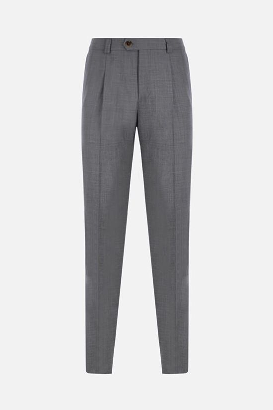 BRUNELLO CUCINELLI: wool darted pants Color Grey_1
