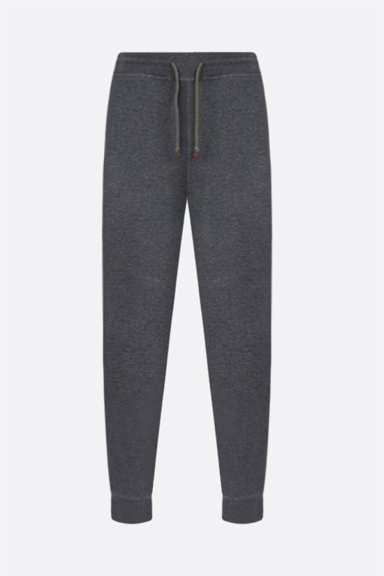 BRUNELLO CUCINELLI: cotton blend joggers Color Grey_1