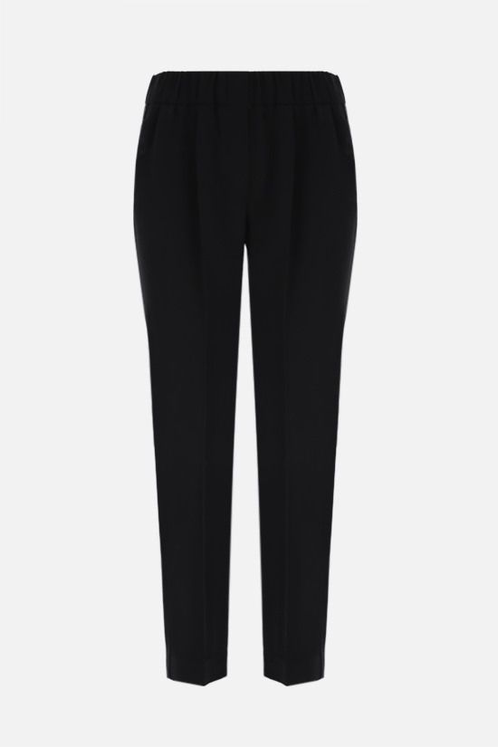 BRUNELLO CUCINELLI: monili-detailed cady joggers Color Black_1