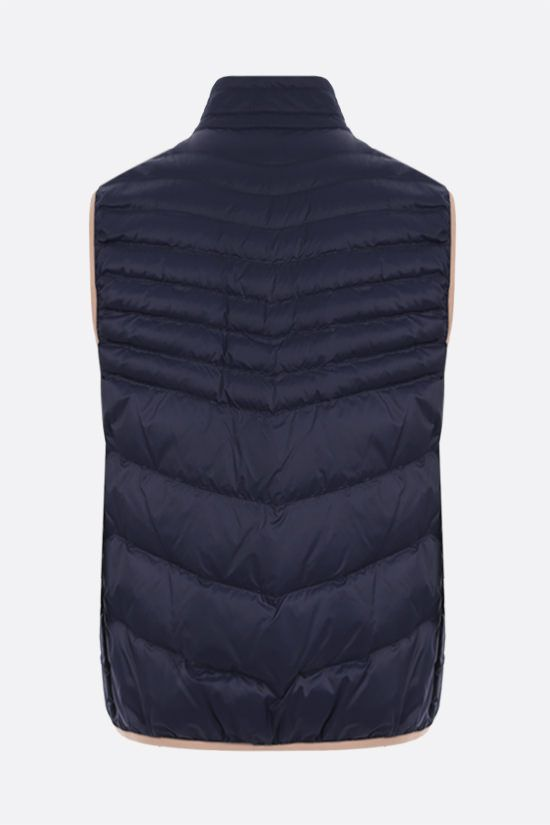 BRUNELLO CUCINELLI: nylon sleeveless down jacket Color Blue_2