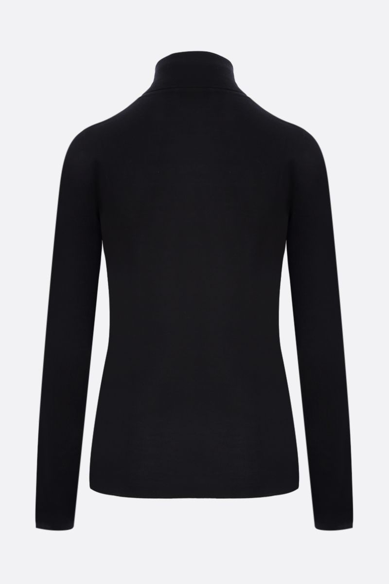 BRUNELLO CUCINELLI: cashmere silk blend turtleneck Color Black_2