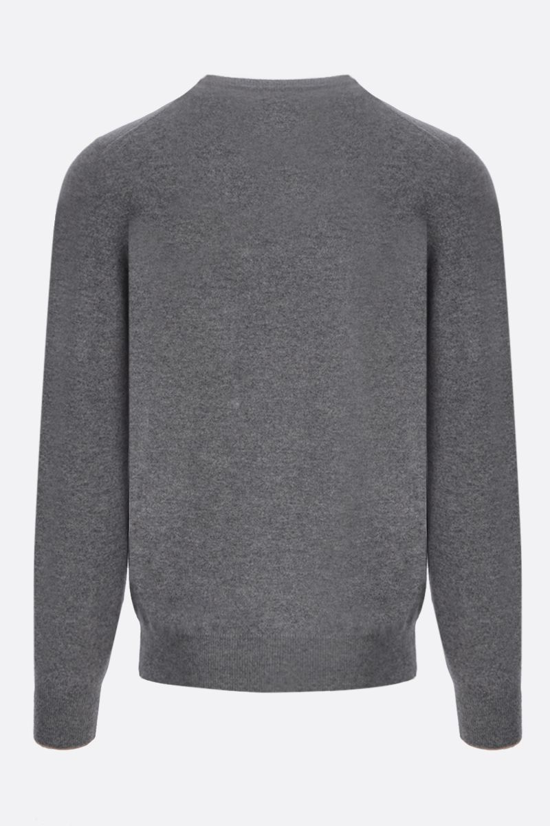 BRUNELLO CUCINELLI: pure cashmere pullover Color Grey_2