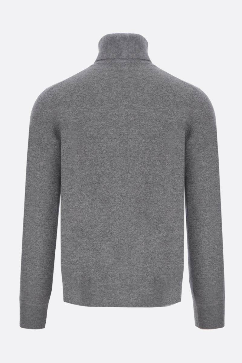 BRUNELLO CUCINELLI: pure cashmere turtleneck Color Grey_2