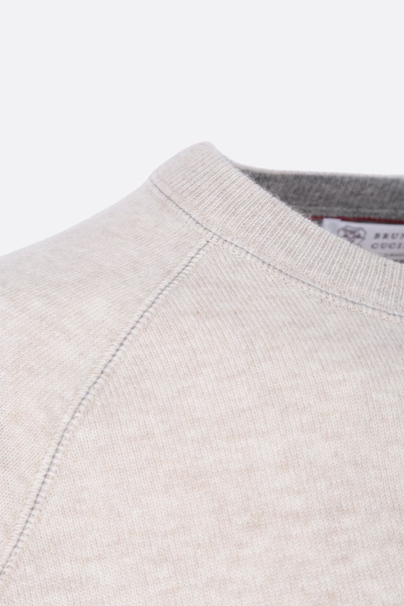 BRUNELLO CUCINELLI: pure cashmere pullover Color Neutral_4