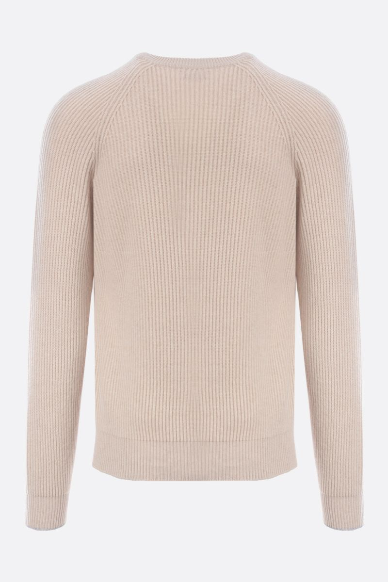BRUNELLO CUCINELLI: wool cashmere silk blend pullover Color Neutral_2