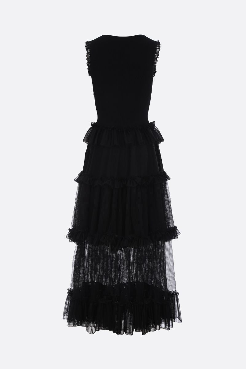 ALEXANDER McQUEEN: stretch knit sleeveless dress Color Black_3