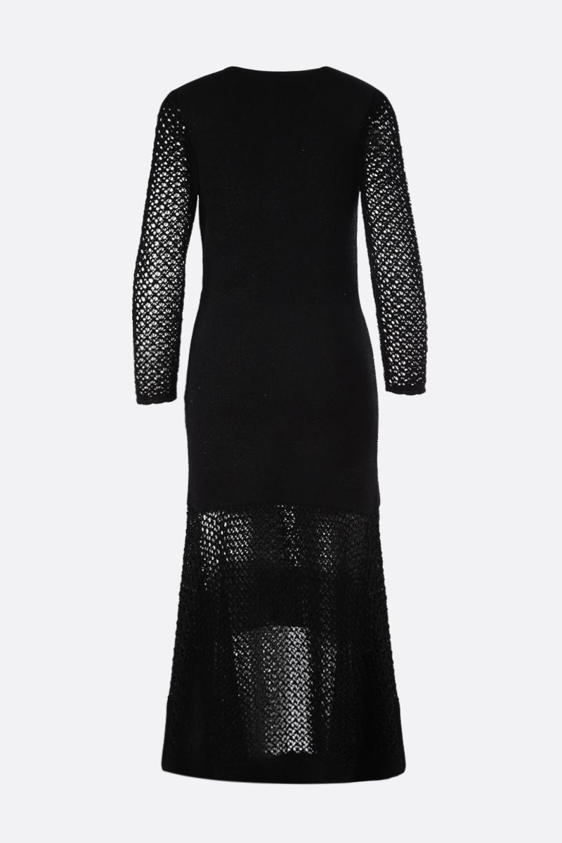 ALEXANDER McQUEEN: lurex knit long dress Color Black_2
