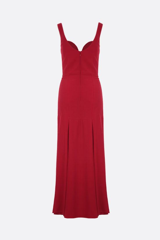 ALEXANDER McQUEEN: crepe long dress Color Red_2
