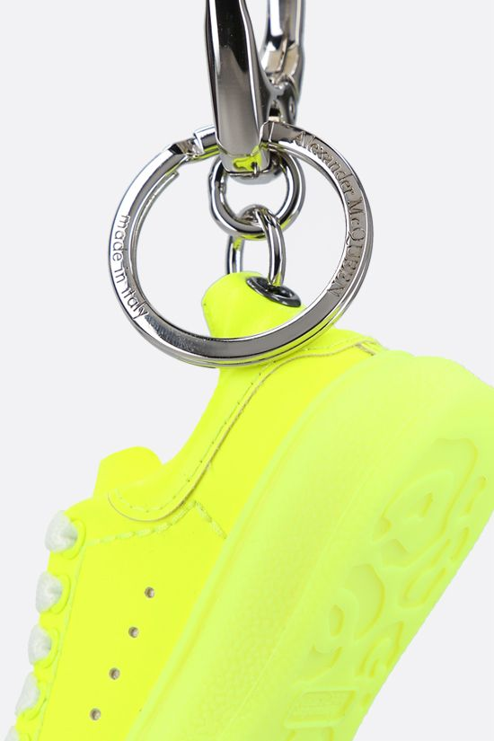 ALEXANDER McQUEEN: Oversize Sneaker-detailed smooth leather key holder Color Yellow_2