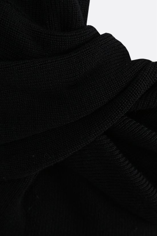 ALEXANDER McQUEEN: knot-detailed wool knit sleeveless top Color Black_3