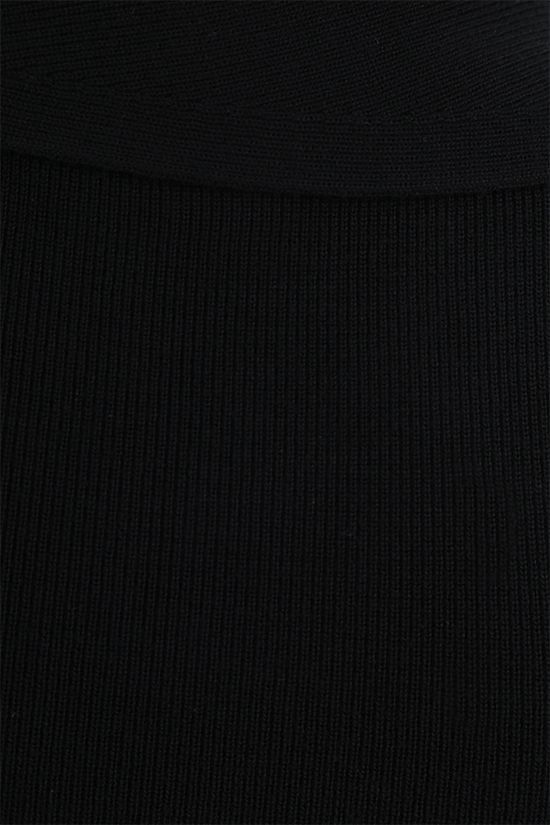 ALEXANDER McQUEEN: knot-detailed wool knit sleeveless top Color Black_4