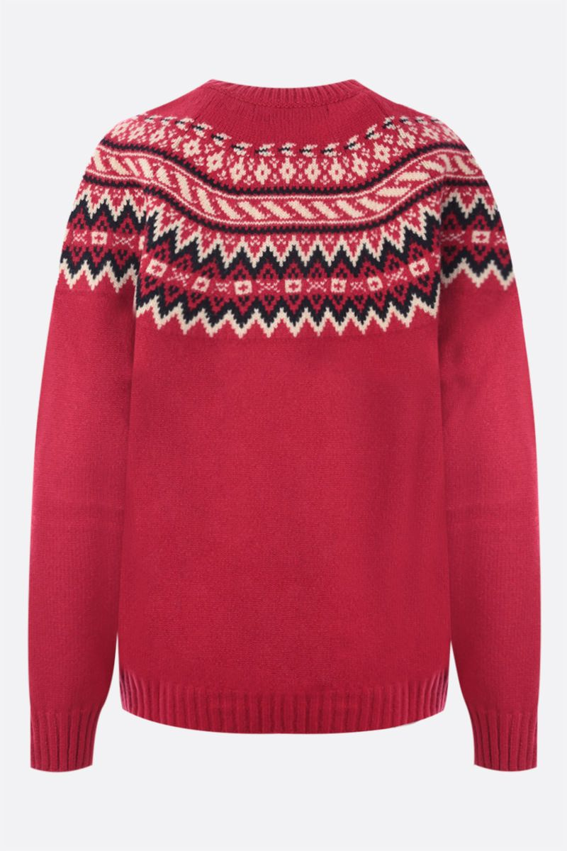 JUNYA WATANABE: pullover oversize Aerosmith in jacquard Colore Red_2