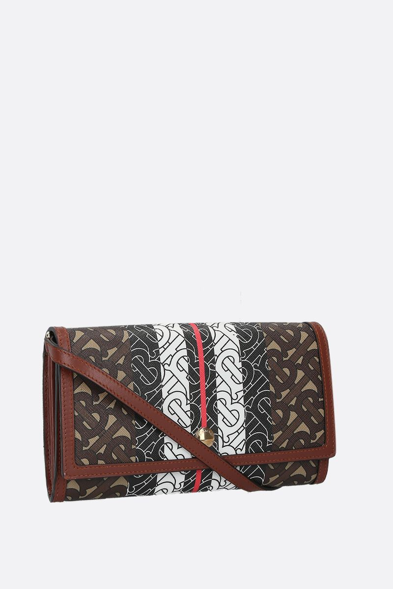 BURBERRY: Hannah strap wallet in TB Monogram coated canvas_2