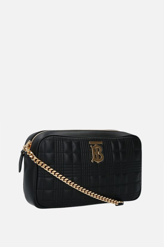 BURBERRY: LS quilted nappa camera bag Color Black_2