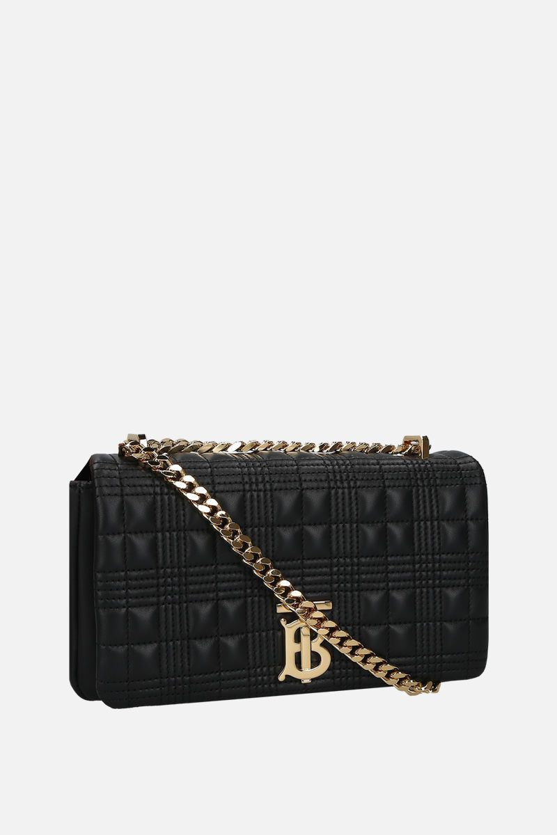 BURBERRY: Lola small quilted nappa shoulder bag Color Black_2