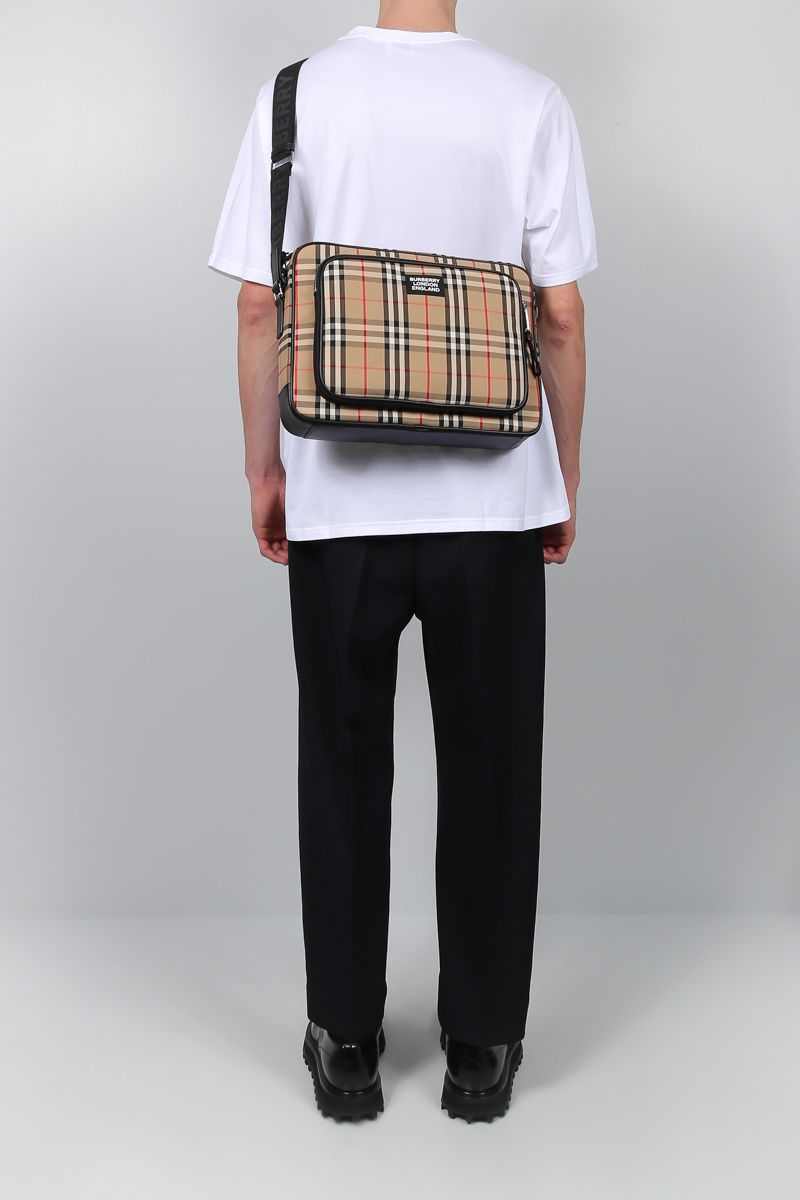 BURBERRY: Marlon messenger bag in Vintage check canvas_2