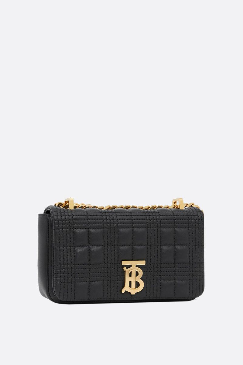 BURBERRY: Lola mini quilted nappa crossbody bag Color Black_2