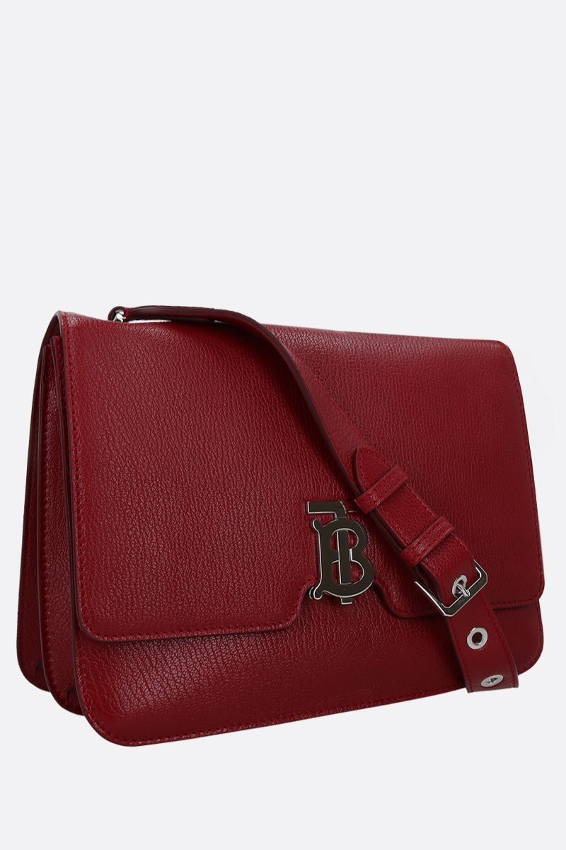 BURBERRY: Alice grainy leather shoulder bag Color Red_2