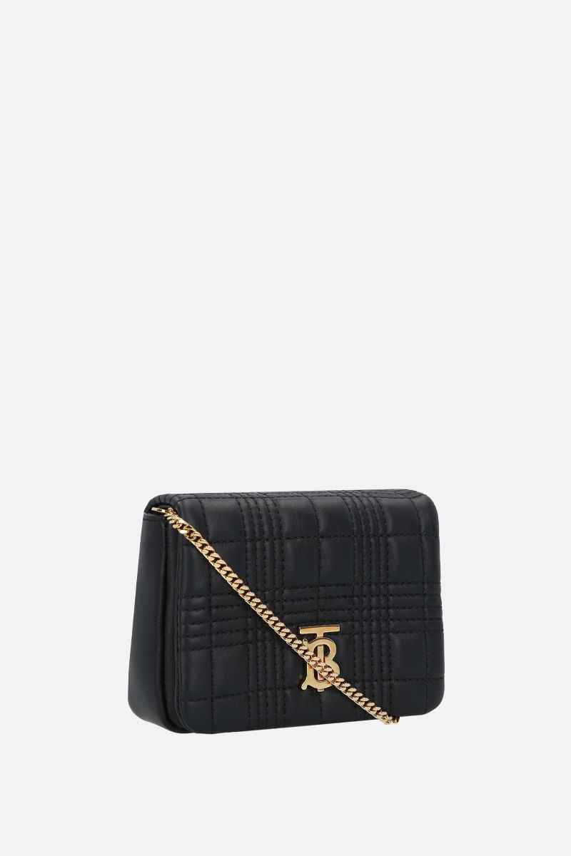 BURBERRY: Lola micro quilted nappa crossbody bag Color Black_2