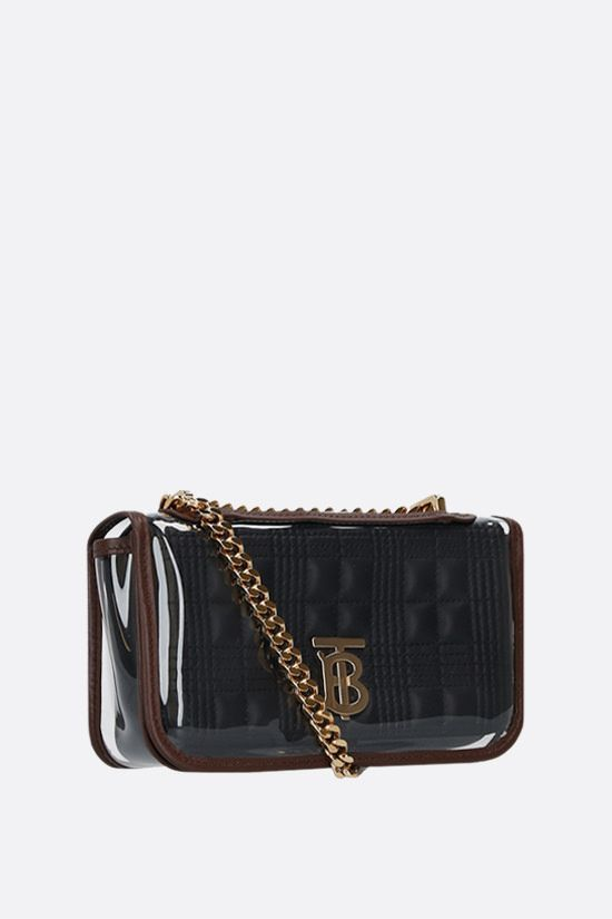 BURBERRY: Lola mini quilted nappa and PVC crossbody bag Color Black_2