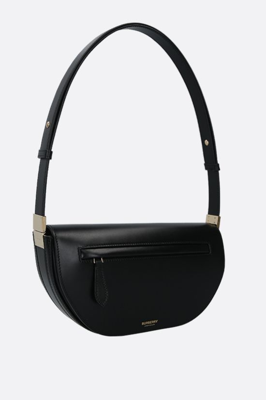 BURBERRY: Olympia small smooth leather shoulder bag Color Black_2