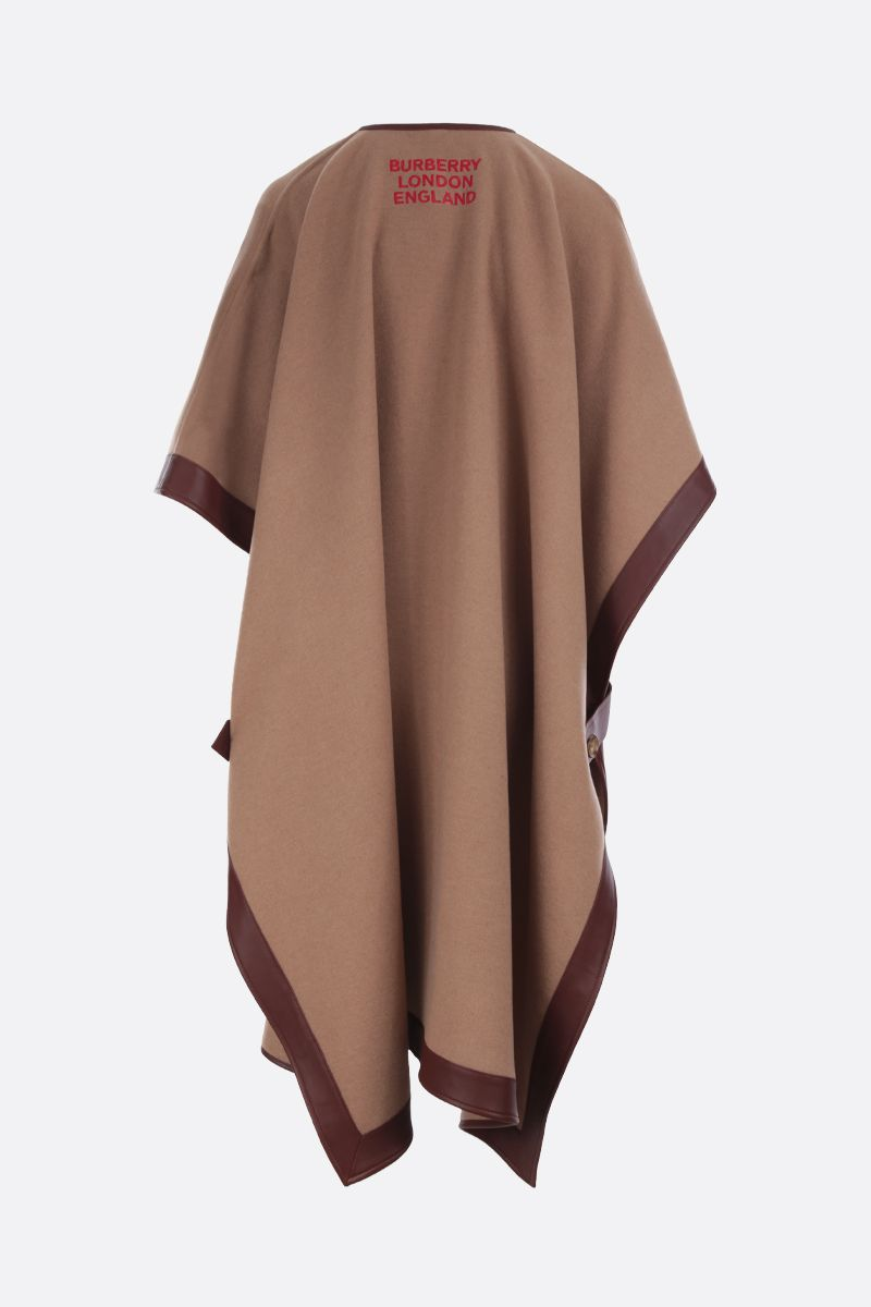 BURBERRY: Pyecombe cashmere cape Color Neutral_2