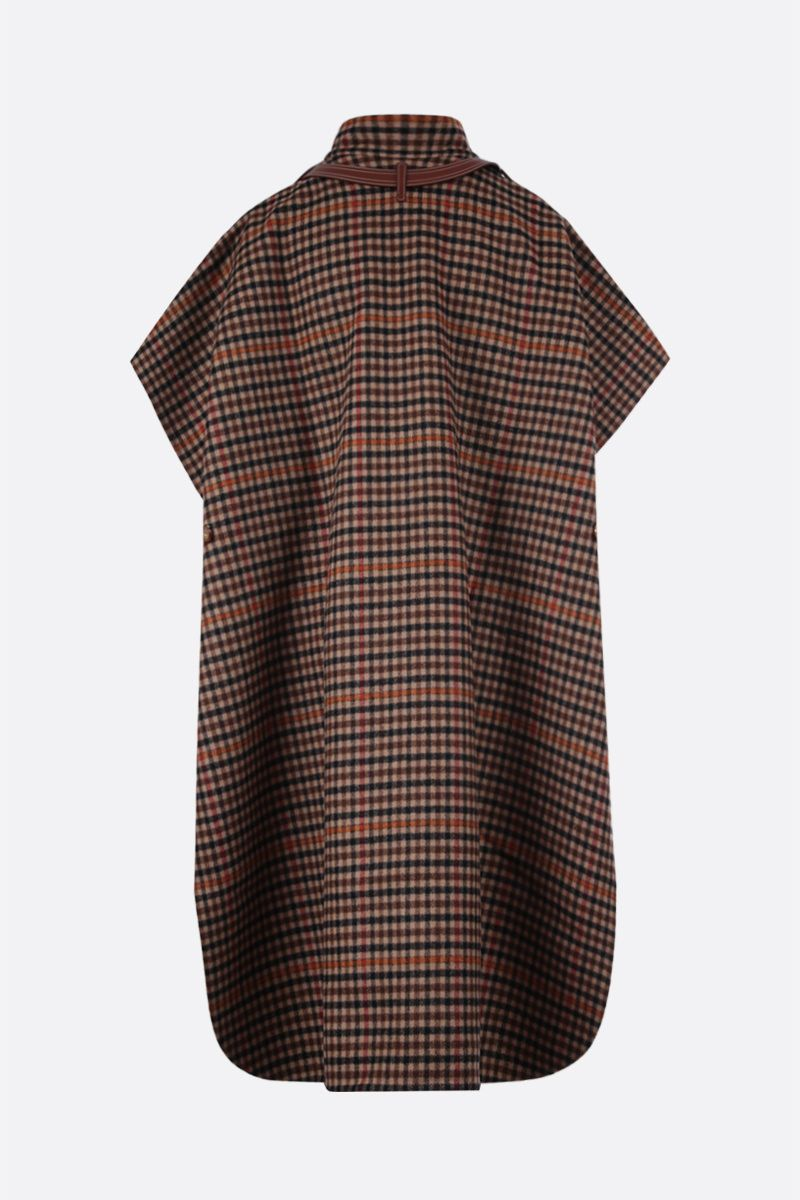 BURBERRY: Hemsby check wool cape Color Multicolor_2