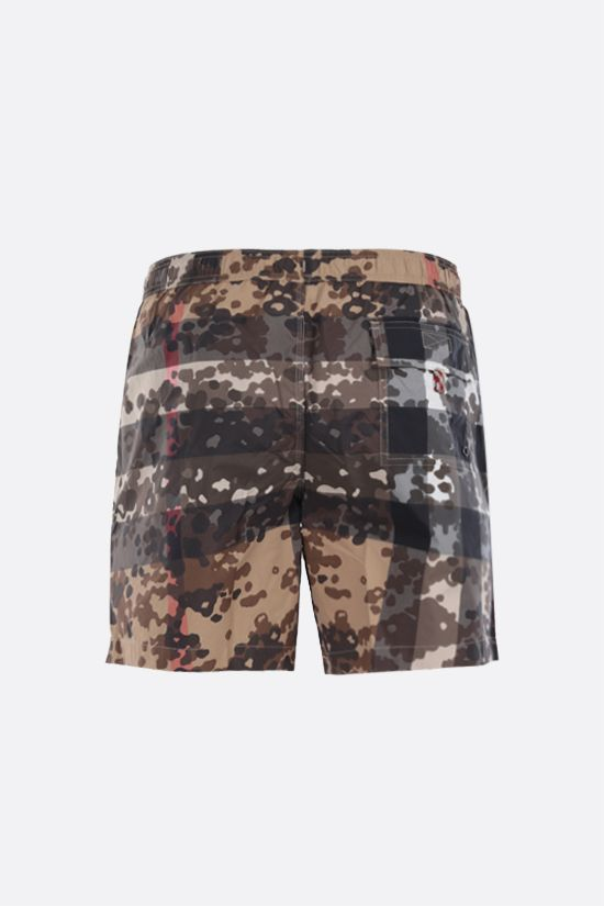 BURBERRY: Martin printed nylon swim shorts Color Neutral_2