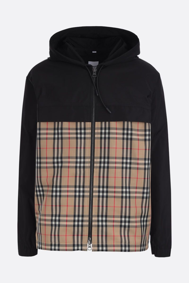 BURBERRY: Compton taffeta jacket with Vintage check panel_1