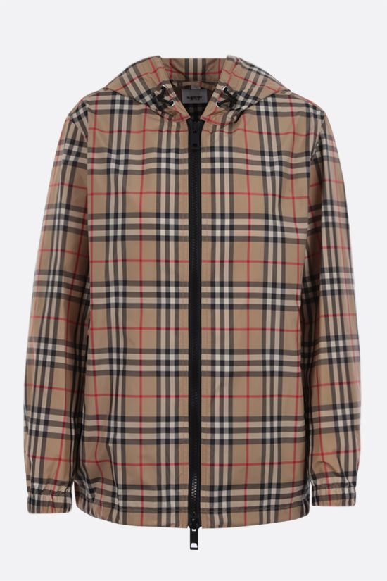 BURBERRY: Everton nylon windbreaker Color Brown_1