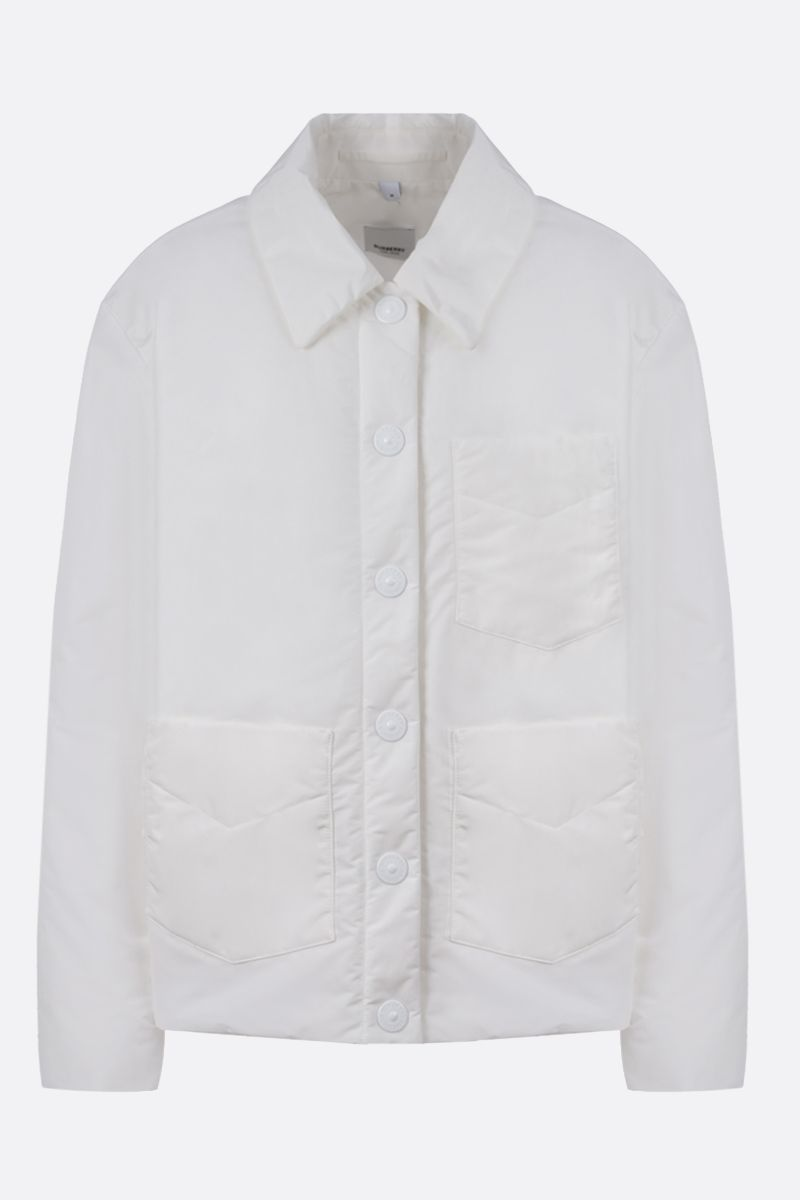 BURBERRY: Devizes technical cotton padded jacket Color White_1