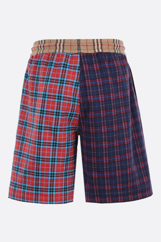 BURBERRY: Husky cotton blend shorts Color Multicolor_2