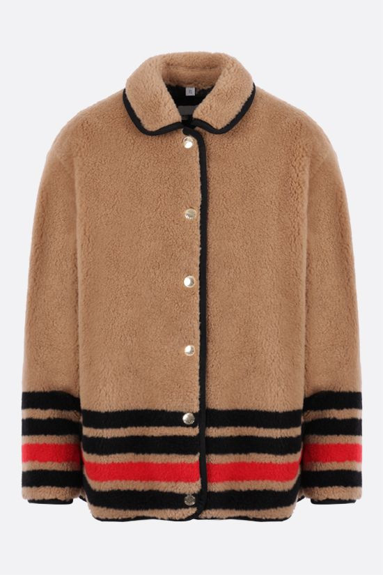 BURBERRY: Kettlewell faux fur jacket Color Brown_1