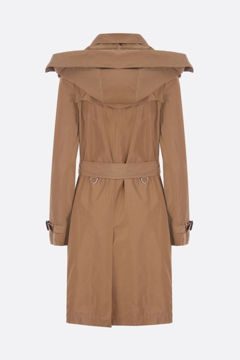 BURBERRY: Kensington technical fabric double-breasted trench coat Color Neutral_2