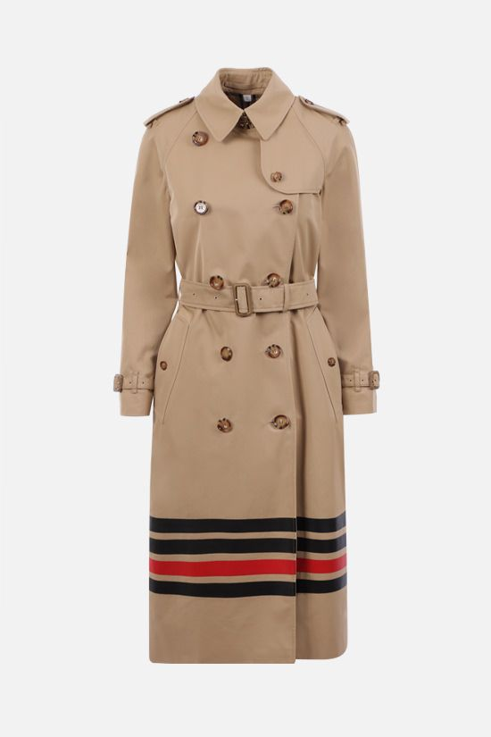 BURBERRY: Waterloo double-breasted cotton trench coat Color Yellow_1
