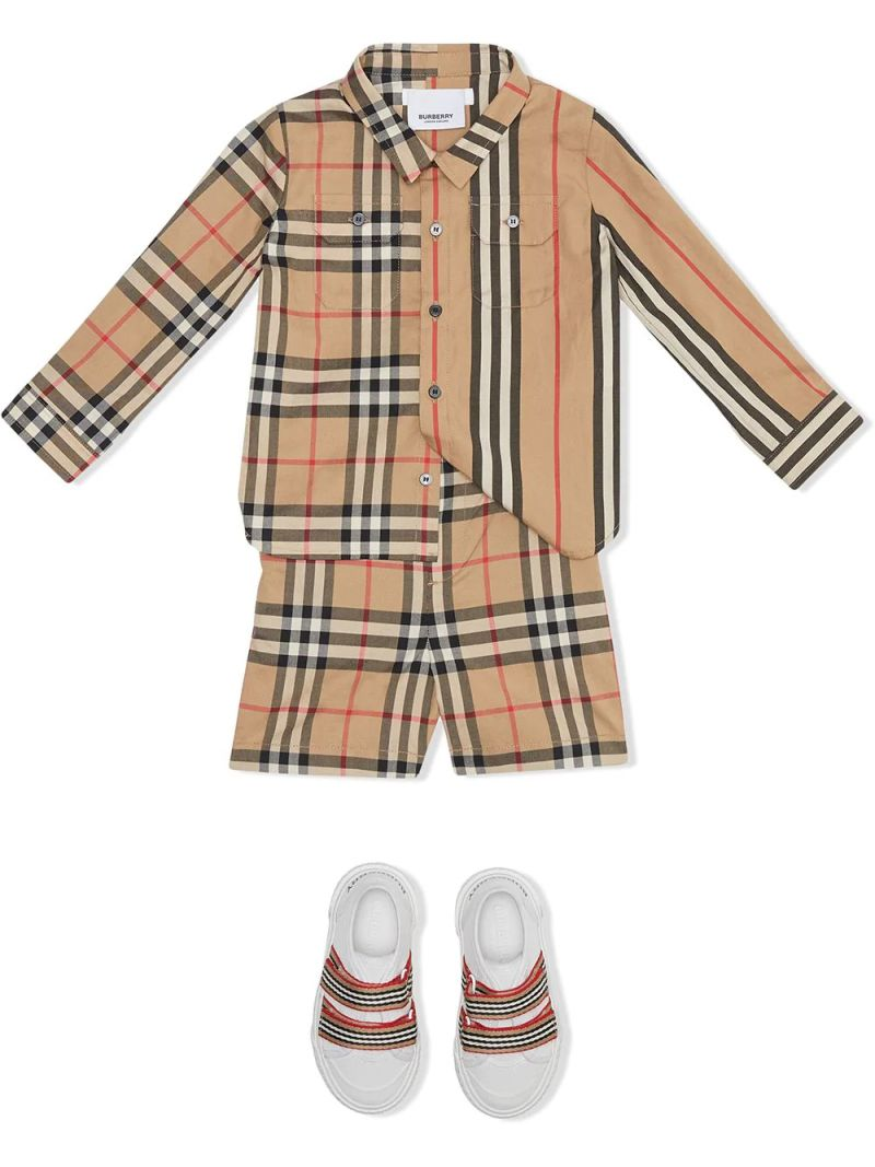 BURBERRY CHILDREN: Vintage check cotton shorts_2