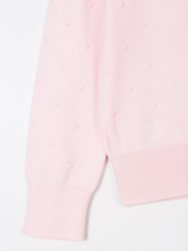 RALPH LAUREN KIDS: cotton knit cardigan Color Pink_3