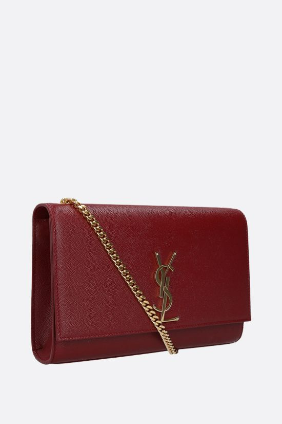 SAINT LAURENT: Kate medium chain bag in Grain de Poudre leather Color Red_2
