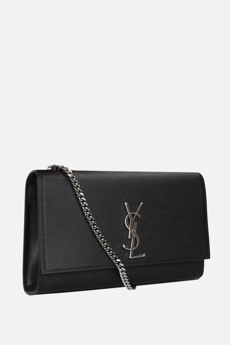 SAINT LAURENT: Kate medium shoulder bag in Grain de Poudre leather Color Black_2