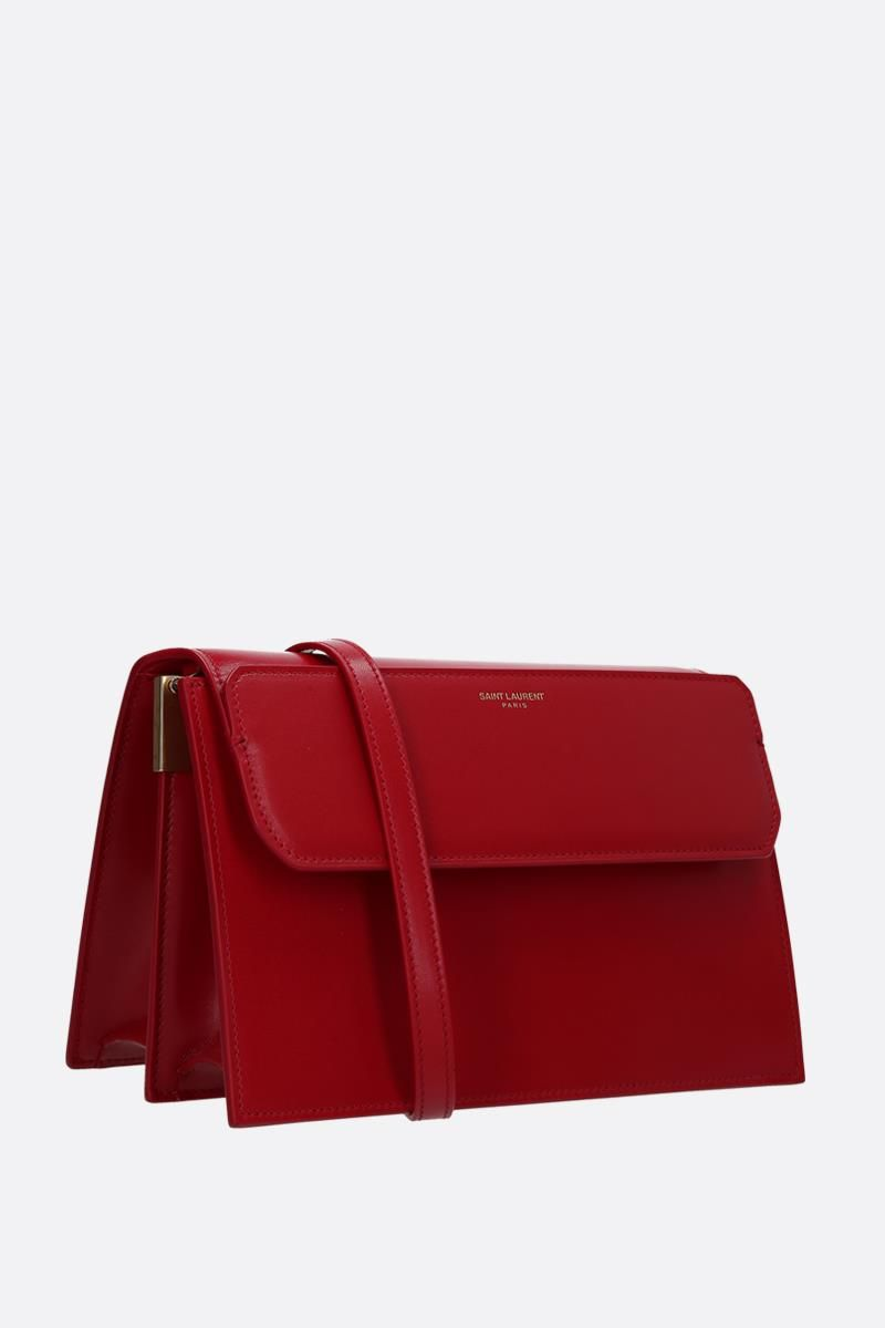 SAINT LAURENT: Catherine leather crossbody bag Color Red_2