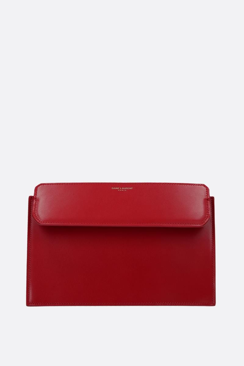 SAINT LAURENT: Catherine leather crossbody bag Color Red_3