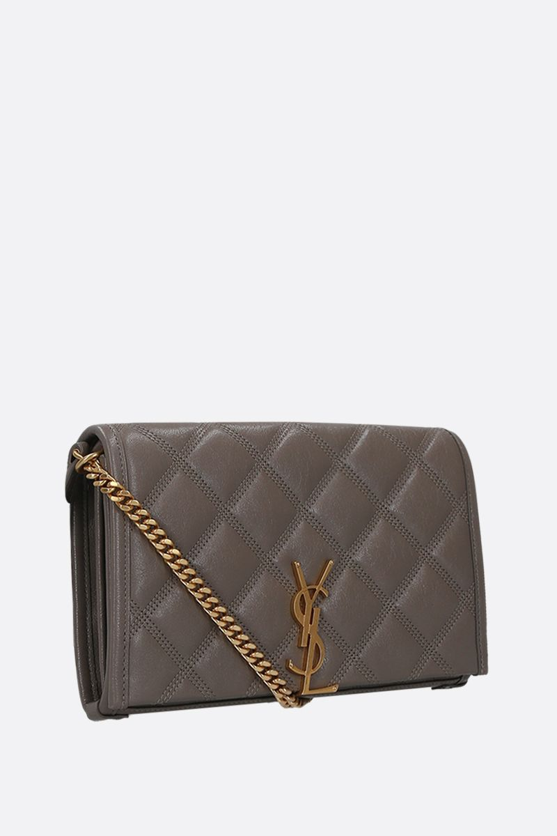 SAINT LAURENT: Becky quilted nappa chain wallet_2