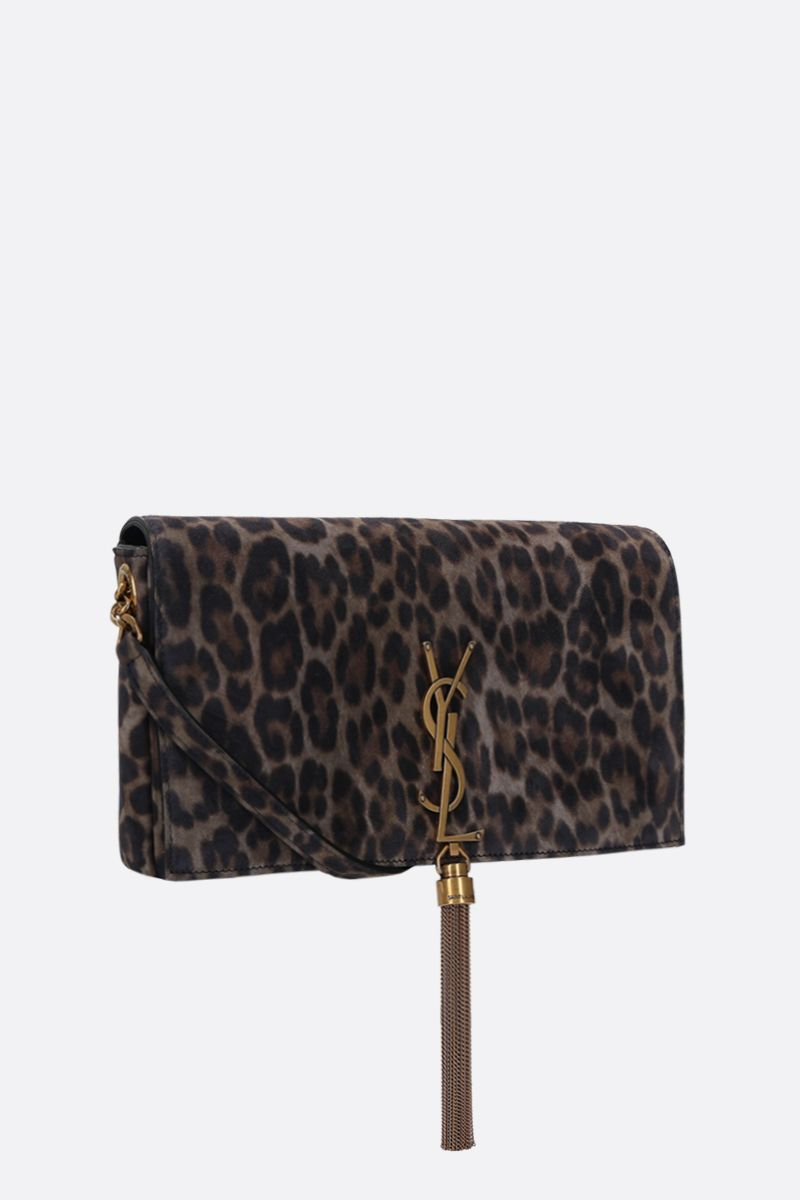 SAINT LAURENT: Kate 99 leopard suede shoulder bag_2