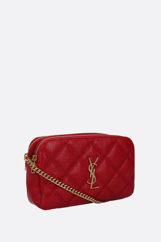 SAINT LAURENT: Becky quilted nappa chain wallet Color Red_2