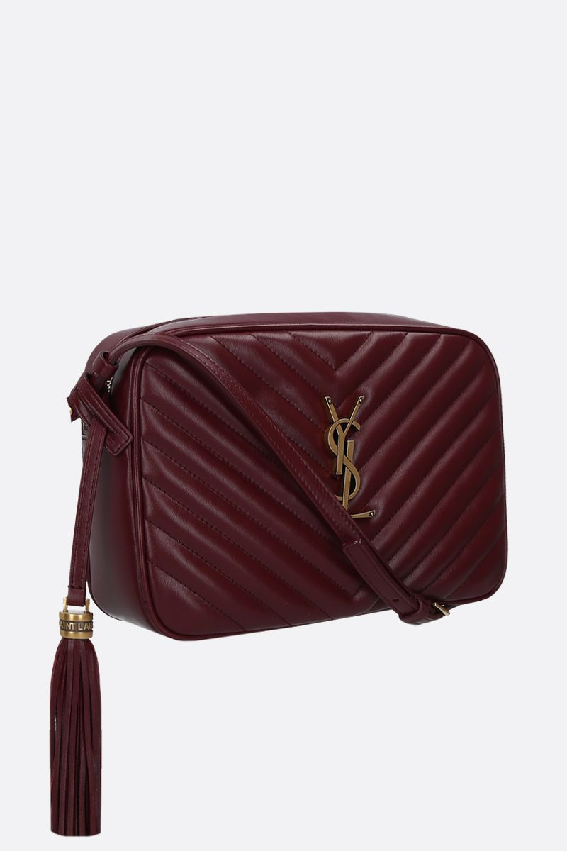 SAINT LAURENT: Lou quilted leather crossbody bag Color Red_2