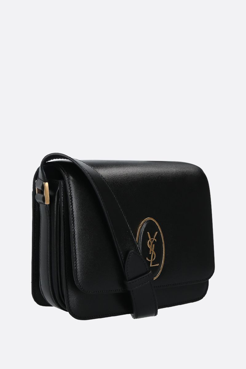 SAINT LAURENT: Saddle Le 61 smooth leather crossbody bag Color Black_2